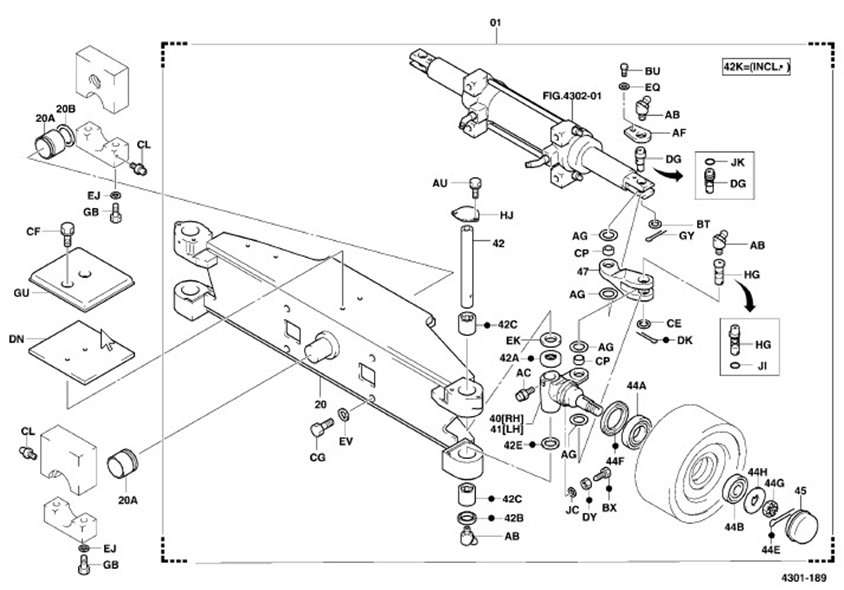 Toyota 8fgcu25 Steering Diagram