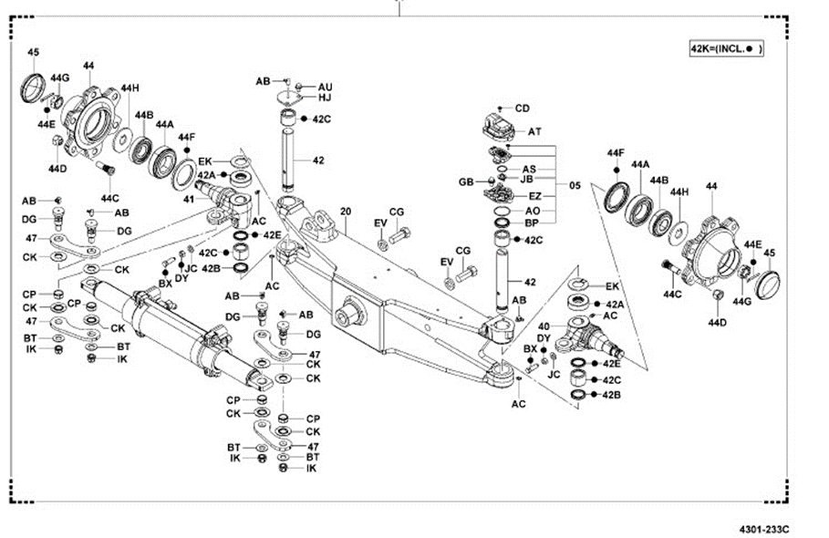 8fgcu25 Steer Axle Assembly Complete Toyota Oem -brand New