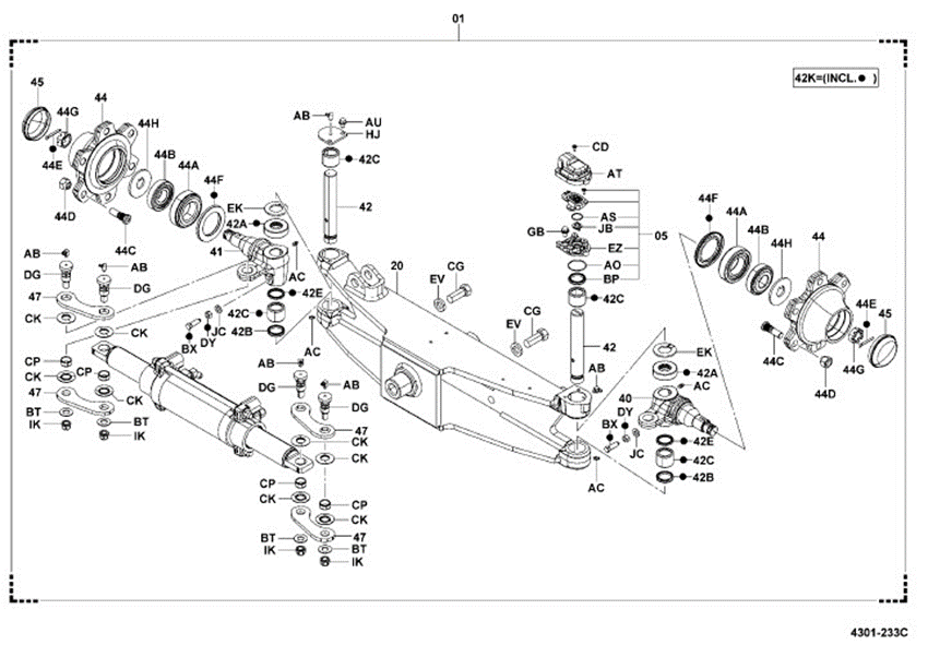 8FGCU32 Steer Axle embly Complete Toyota OEM -BRAND NEW on